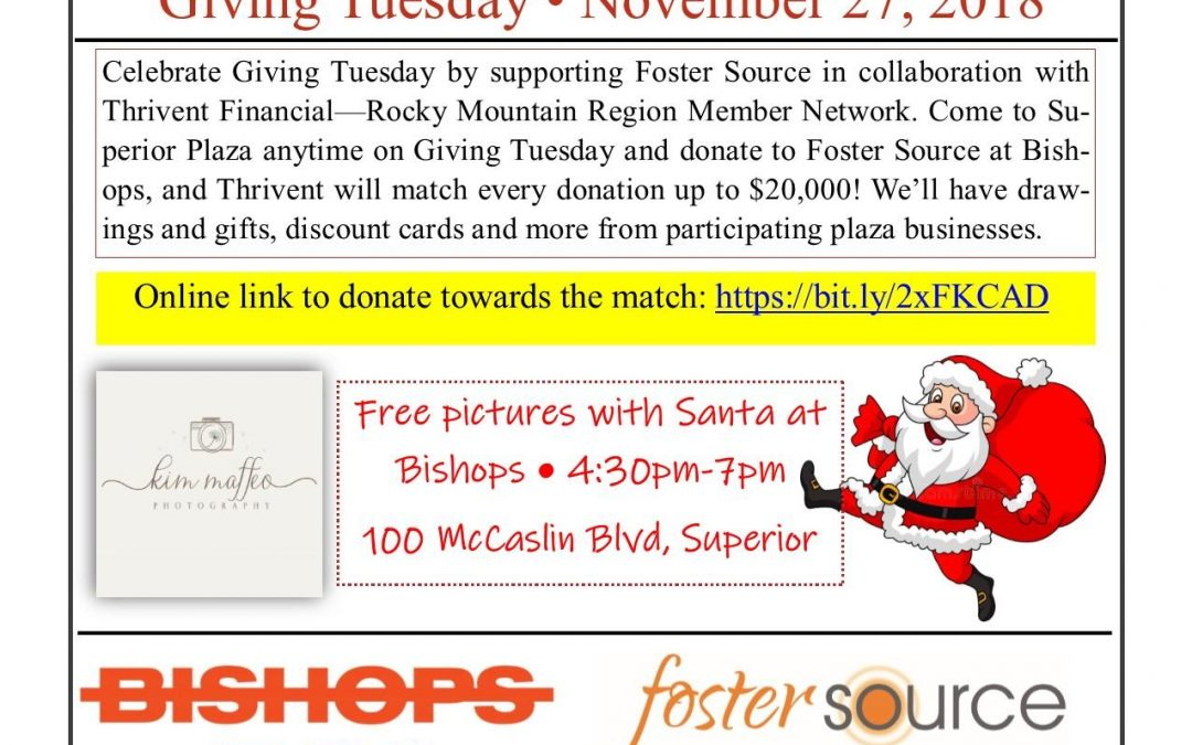 Free Pictures with Santa Claus at Bishops!